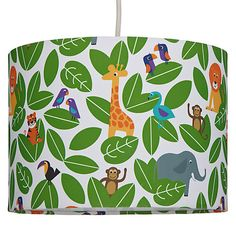 Buy little home at John Lewis Animal Fun Jungle Lampshade from our Ceiling & Lamp Shades range at John Lewis. Free Delivery on orders over Safari Bedroom, Animal Bedroom, Animal Nursery, Kids Bedroom, Kids Rooms, Boy Bedrooms, Childrens Bedroom, Trendy Bedroom, Jungle Baby Room