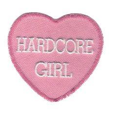 girl, hardcore, and heart image