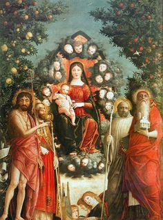 Andrea Mantegna (1431-1506) —  Trivulzio Madonna, 1497 :  Sforza Castle, Milan.  Italy (1257×1700)