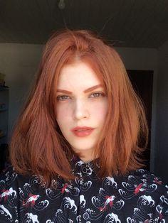 Short red hair- Cabelo ruivo curto Redhead Keune with Toning Fox - Short Dyed Hair, Dyed Hair Ombre, Dyed Hair Purple, Hair Color Auburn, Hair Color Dark, Medium Hair Styles, Short Hair Styles, Natural Red Hair, Copper Red Hair
