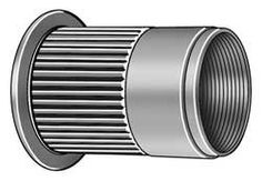 Westward 5NNL3 Rivet Nut, Knurled, Zinc, 10-24x0.510, Pk100 by WestWard Tools. $31.02. Rivet Nut, Knurled Flanged, Steel, Zinc Plated Finish, Thread Size 10-24, Length 0.510, Grip Range 0.079 to 0.130, Drill Size 19/64, Hole Size 0.280, Head Height 0.040, Head Dia. 0.390, Body Dia. 0.280, Flange Dia. 0.413, Application Used To Securely Fasten Metals, Fiberglass Or Rigid Plastic Materials By Creating Permanent Threads, Ideal For Materials Considered Too Thin For ...
