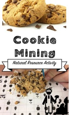 A natural resource activity. Students mine for chocolate chips and see the effect on the environment. 4th Grade Science, Elementary Science, Science Classroom, Teaching Science, Teaching Activities, Stem Activities, Science Curriculum, Student Teaching, Math Resources