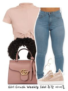"""6.29.17"" by trinityannetrinity ❤ liked on Polyvore featuring Gucci, Giuseppe Zanotti and Linda Farrow"