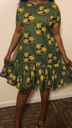 African Print Dress/African clothing for women/dress/Summer dress/short dress/Ankara dress/African -clothing/African dress/loose dress Ankara Short Gown Styles, Short African Dresses, Short Summer Dresses, Short Gowns, Latest African Fashion Dresses, African Print Dresses, African Print Fashion, Summer Dresses For Women, Dress Summer