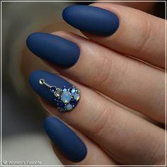 Какой маникюр нравится 1, 2 или 3? #Nails_WF #nails #маникюр #синий #фиолетовый #фиолет #черный #розовый #камушки #украшение #manicure… Star Nails, 3d Nails, Matte Nails, American Nails, Baby Nails, Exotic Nails, Bright Nails, Cool Nail Designs, Halloween Nails