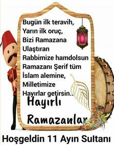 Ramazan Ayı Sözleri-Sahur Sözleri-Ramazan Davulcusu Sözleri - Güzel Sözler