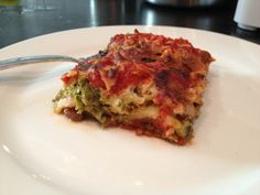 Zucchini Lasagna #MeatlessMonday via thefoodiejournal.com