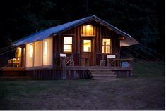 Reclaimed Space | Dunton Hot Springs | It's a tent!  It's a cabin!  I wanna live in it!