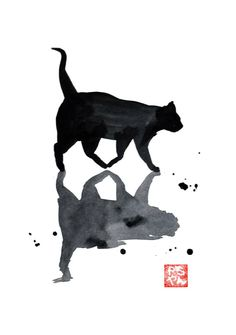 Shop original art created by thousands of emerging artists from around the world. Buy original art worry free with our 7 day money back guarantee. Creepy, Scary, Black Cat Painting, Original Art For Sale, Saatchi Art, Original Paintings, Elephant, Palette, Batman