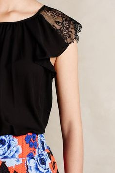 Lace Epaulette Top - anthropologie.com