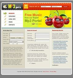 Portal Music Website Templates by Delta