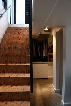 Wood Block Staircase #stairs #staircase #woodblocks