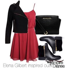 """Elena Gilbert inspired outfit/The Vampire Diaries"" by tvdsarahmichele on Polyvore"