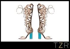 Nicholas Kirkwood Scalloped Snakeskin Sandal Boots | The Zoe Report... a really sexy boot!