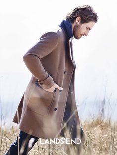 Ryan Burns Heads Outdoors for Lands End Campaign