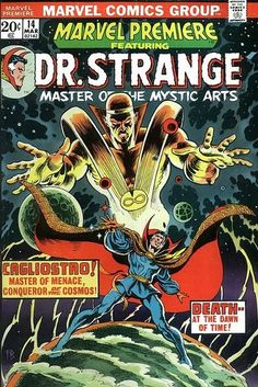 "Marvel Premiere Vol 1 14 - Doctor Strange, ""Sise-Neg Genesis"" (March, Cover by Frank Brunner, Glynis Wein & George Roussos. Marvel Comics, Marvel Comic Books, Marvel Characters, Comic Books Art, Marvel Avengers, Book Art, Comic Superheroes, Strange Marvel, Doctor Strange Comic"