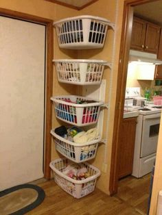 Good idea for shelving in the laundry room