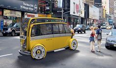 Taxis of the Future    minimodal by hybrid product design