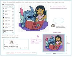 Lilo And Stitch free mini cross stitch pattern by squirrelystitcher