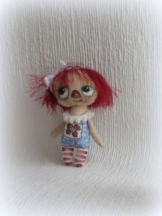 Raggedy Anne hand painted cloth doll by suziehayward on Etsy, $39.00 sold