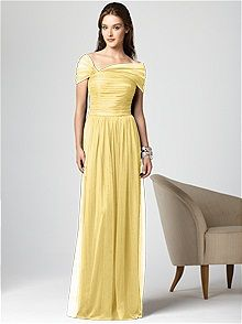 Dessy Collection Style 2847    #yellow #bridesmaid #dress