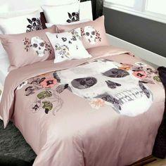 Girly skull bedding