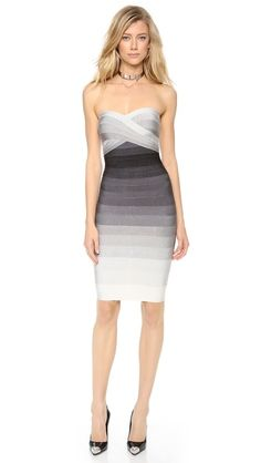 Herve Leger Izzie Ombre Strapless Dress...if I were thinner