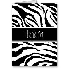 Pink and zebra templates free elegant zebra print custom place zebra print black blank thank you card reheart Images