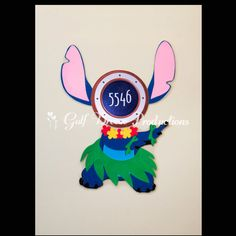 Hula Stitch Magnet for Disney Cruise Door by GulfBreezeProduction on Etsy