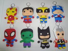 Lembrança Chaveiro - Tema Super Herois