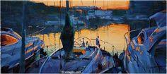 """Evening Sun"" by Vladimir Volegov, painting, cm, oil on canvas Sun Painting, Seascape Paintings, Oil Paintings, Vladimir Volegov, Evening Sun, Buy Posters, Portrait, Figurative Art, Oil On Canvas"