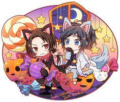 Happy Holloween, Anime Halloween, Touken Ranbu, Sword, Chibi, Artworks, Happy Birthday, Kawaii, Random