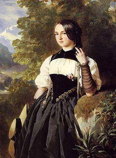 A Swiss Girl from Interlaken, Franz Xaver Winterhalter (Elisabetha Grossmann, la belle batelière de Brienz)