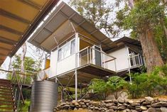 Hawkesbury River at Dangar Island, Australia, the Outback Stacked House