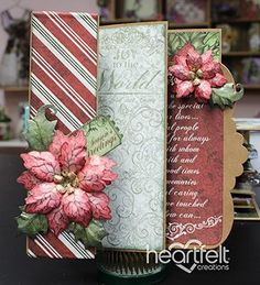 Flip Fold Christmas Card from #heartfeltcreations