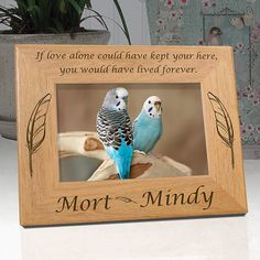"""Personalized Memorial Picture Frame """"If Love Alone"""""""