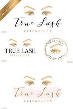 Makeup logo, Lash logo design, Lash extension logo, Premade eyelash logo design, makeup artist logo, beauty logo, makeup logo design, 165 by savanammdesign on Etsy