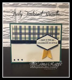 Stampin' Up!, Truly Tailored stamp set, Tailored Tag Punch, Stampin' Studio