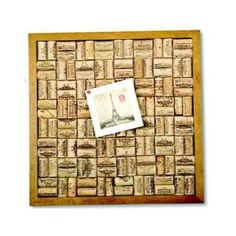 The Wine Cork Bulletin Board Kit lets you create a DIY bulletin board with your wine corks! Pop those wine corks...and make a wine cork bulletin board with this fun kit. The cork bulletin board in map