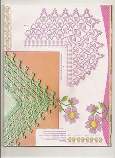 Kira scheme crochet: Scheme crochet no. Filet Crochet, Col Crochet, Crochet Lace Edging, Crochet Motifs, Crochet Collar, Crochet Diagram, Crochet Chart, Crochet Trim, Irish Crochet