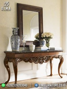 Console Table, Table Lamp, Lampshades, Hearth, Wood Furniture, Entryway Tables, Carving, Lights, Living Room