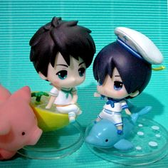 Need a ride? ...  From rintrondo ...  Free! Iwatobi Swim Club, haruka nanase, haru nanase, haru, nanase, free!, iwatobi, yamazaki, sousouke, sousouke yamazaki, figurine