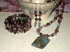 """Tourmaline Princess"" jewellery set inspired by the beautiful tourmaline gemstone"