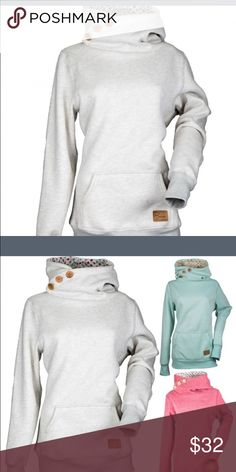 Diva's Snow Gear Side Button Pullover - New! Perfect pullover! Love this! Heather Grey. Like for arrival notification! Brand New in package! Tops Sweatshirts & Hoodies