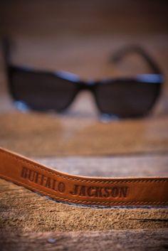 Leather Sunglass Straps, Rugged Croakies for Sunglasses by Buffalo Jackson Trading Co