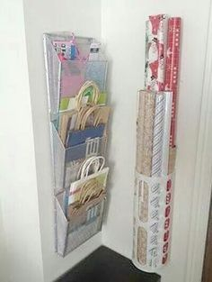 Organize your wrapping and gift bags