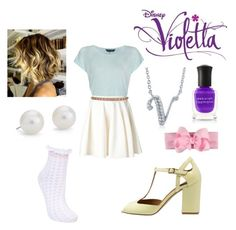 Designer Clothes, Shoes & Bags for Women Violetta Outfits, Violetta Disney, Cute Fashion, Women's Fashion, Katherine Pierce, Disney Shows, Pastel Goth, School Outfits, Types Of Fashion Styles