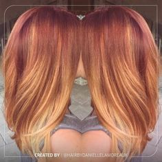 """It's the Look of the Week, and we are all about this luscious strawberry blonde look created by @hairbydaniellelamoreaux ! And we have the formula just…"""