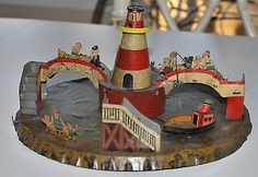 RARE Vintage Distler SHIP Ahoy Tin Windup Toy Original Condition Germany