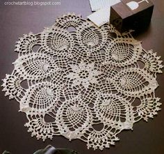 Crochet Doily Pineapple Lace crochet